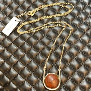 🆕WHBM Boho Gold Jasper Gemstone Pendent Necklace